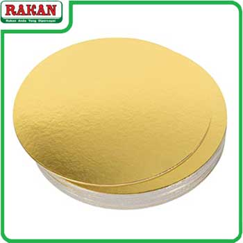 GOLD CAKE BOARD 8INC(R)