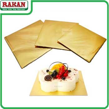 GOLD CAKE BOARD 8INC(SQ)