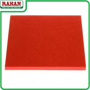 RED CAKE BOARD 8INC(SQ)